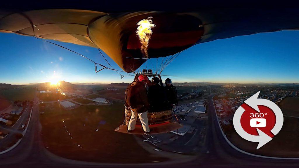 360 video in an air balloon